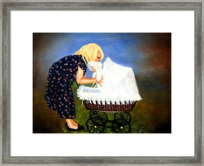Young Mommy Framed Print by Joni McPherson