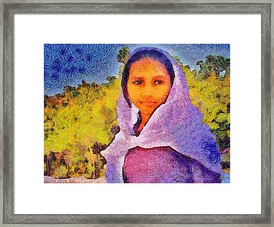 Young Moroccan Girl Framed Print