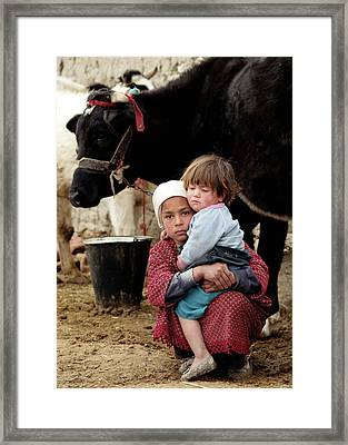 Young Mother Framed Print