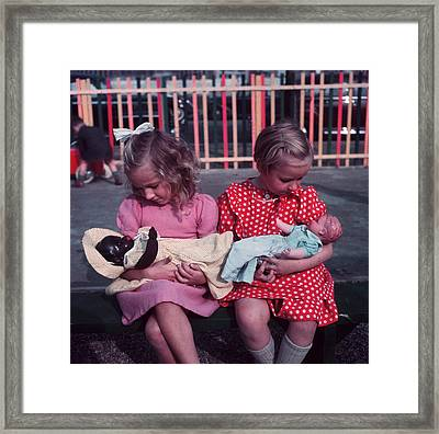 Young Mothers Framed Print by Keystone