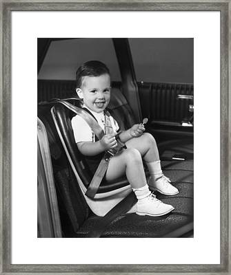 Young Passenger Framed Print by Archive Photos