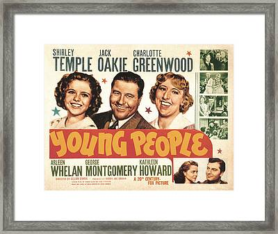 Young People, Shirley Temple, Jack Framed Print by Everett