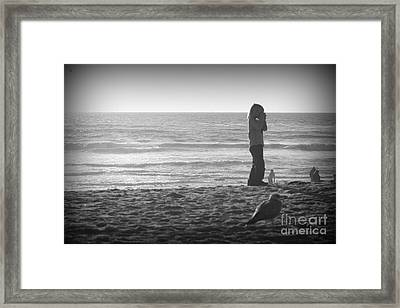 Young Professional Photographer Framed Print by Trude Janssen