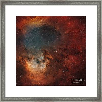 Young Star-forming Complex Ngc 7822 Framed Print by Rolf Geissinger