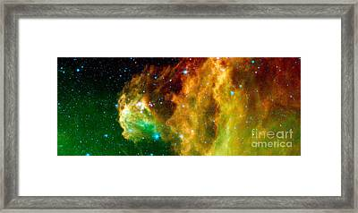 Young Stars Emerge From Orions Head Framed Print