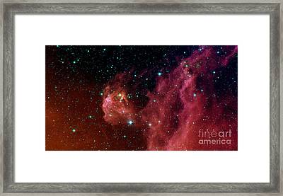 Young Stars Emerge From Orions Head Framed Print by Stocktrek Images