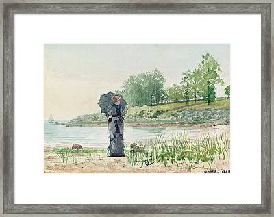 Young Woman Framed Print by Winslow Homer