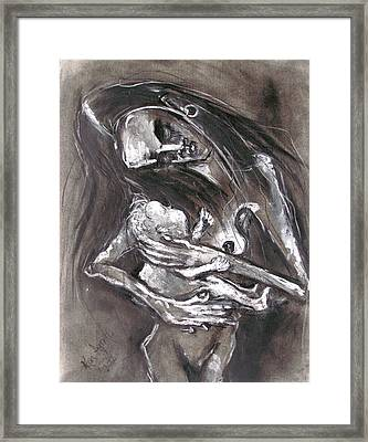 Young Woman With Infant Framed Print by Kenneth Agnello