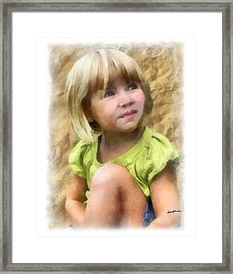 Youngest Daughter Framed Print by Anthony Caruso