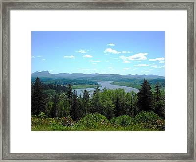 Youngs River And Saddle Mountain Framed Print