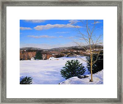 Youngs Road Brooklyn Ct Framed Print