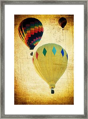 Framed Print featuring the photograph Your Balloon Ride by James Bethanis