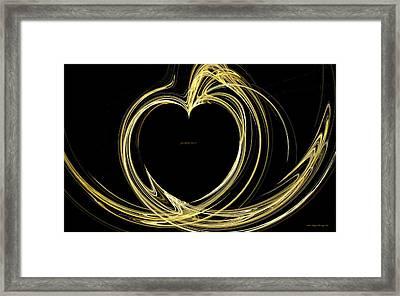 Your Golden Heart Framed Print by Wayne Bonney