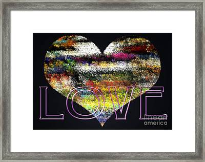 Your Heart Is My Pinata Framed Print by Gwyn Newcombe
