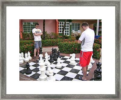 Your Move Framed Print by Laurel Fredericks