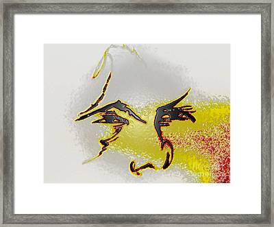 Your Plastic Face Framed Print by Robert Haigh