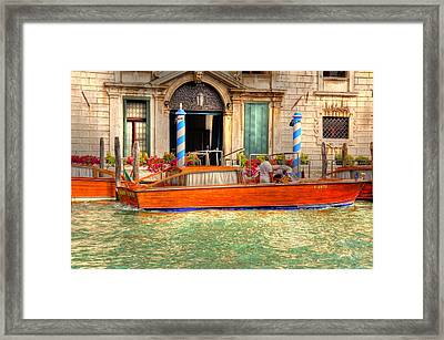 Your Ride Is Here Framed Print by Barry R Jones Jr