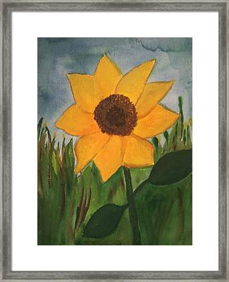 Your Sunflower Framed Print by Cara Surdi