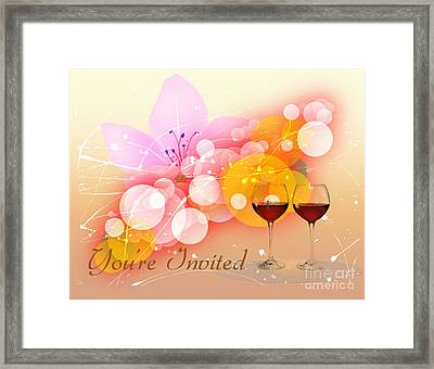 You're Invited Framed Print by Heinz G Mielke