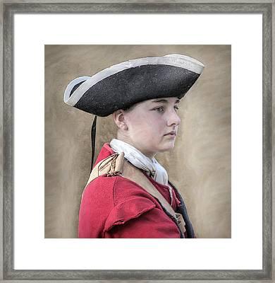 Youthful Colonial British Soldier Portrait Framed Print