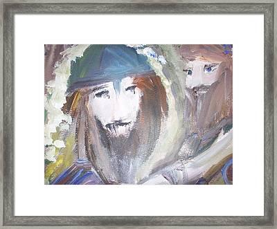 Youwash And Lwilldry Framed Print by Judith Desrosiers