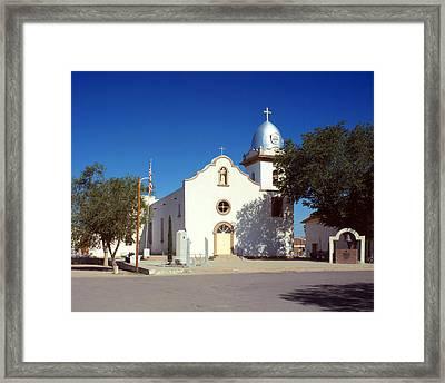 Ysleta Mission. La Misi�n De Corpus Framed Print by Everett