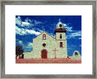 Ysleta Mission Texas Framed Print by Kurt Van Wagner