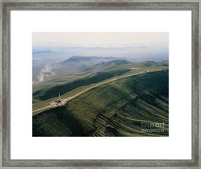 Yucca Mountain Site, Nuclear Waste Framed Print