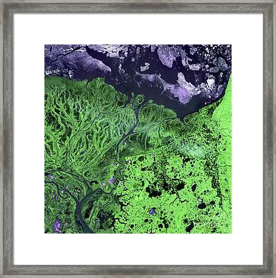 Yukon Delta, Alaska Framed Print