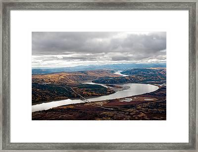 Yukon River Bridge Framed Print