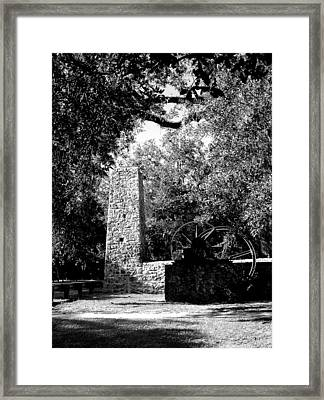 Yulee Sugarmill 2  Black And White Framed Print