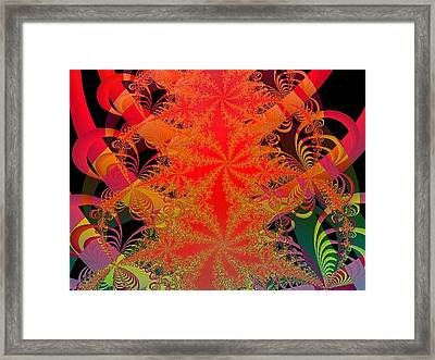 Framed Print featuring the digital art Yuletide by Ann Peck