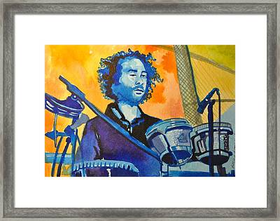 Yum Um Drum Framed Print