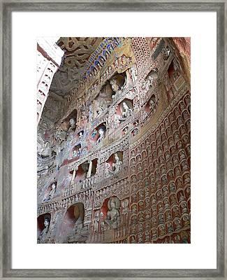 Yungang Grottoes, China Framed Print by TCYuen