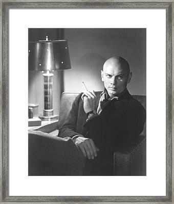 Yuo Brynner, 1957 Framed Print by Everett