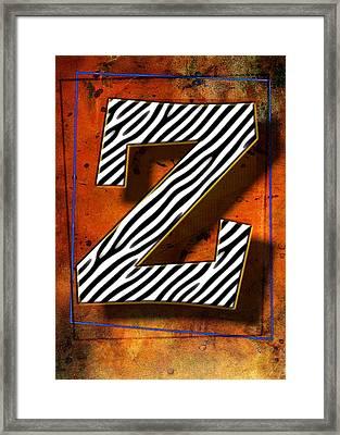 Z Framed Print by Mauro Celotti
