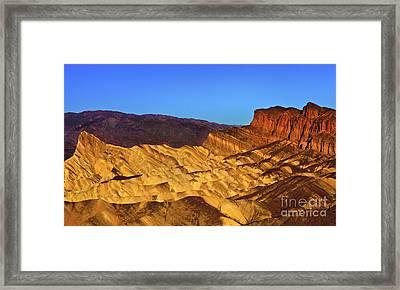 Zabriskie At Sunrise Framed Print by Mark East