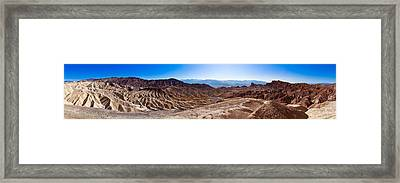 Zabriskie Point Panorama Framed Print