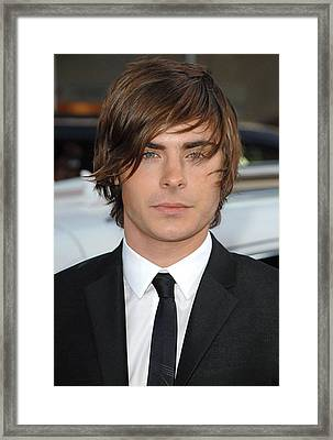 Zac Efron At Arrivals For 17 Again Framed Print