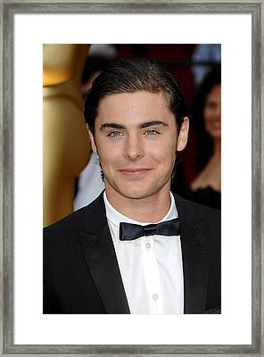 Zac Efron At Arrivals For 81st Annual Framed Print by Everett