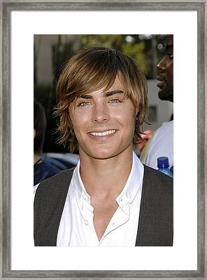 Zac Efron At Arrivals For Arrivals - Framed Print