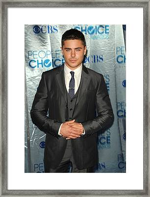 Zac Efron At Arrivals For Peoples Framed Print