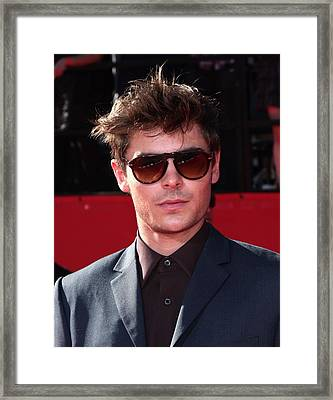 Zac Efron In Attendance For Espns 18th Framed Print