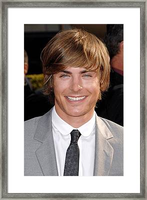 Zach Efron At Arrivals For Arrivals - Framed Print by Everett