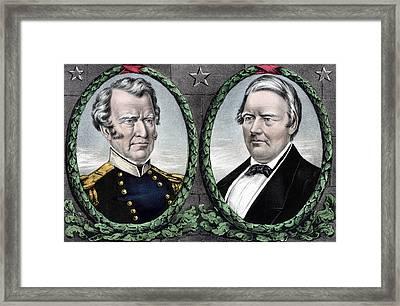 Zachary Taylor For President And Millard Fillmore For Vice President Framed Print