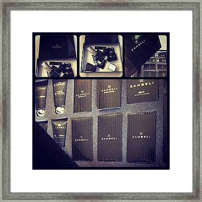 #zambeli #customcaseinserts Framed Print