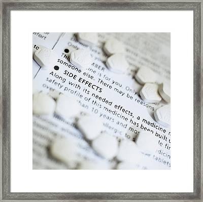 Zantac Pills Framed Print by Steve Horrell