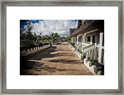 Zanzibar Street Framed Print