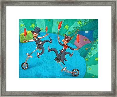 Zanzzini Brothers Framed Print by Autogiro Illustration