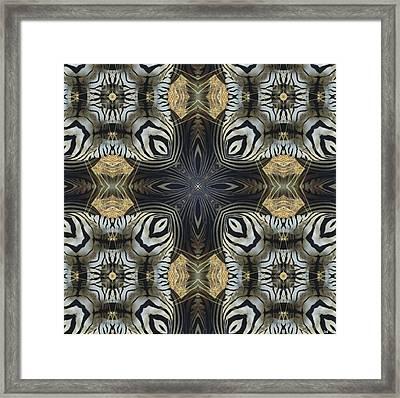 Zebra Cross II Framed Print by Maria Watt